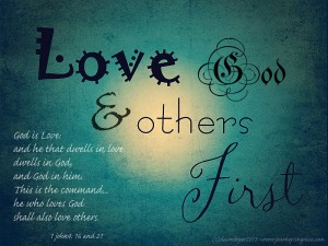 love others first 1john416 21