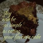 Eat cake joy