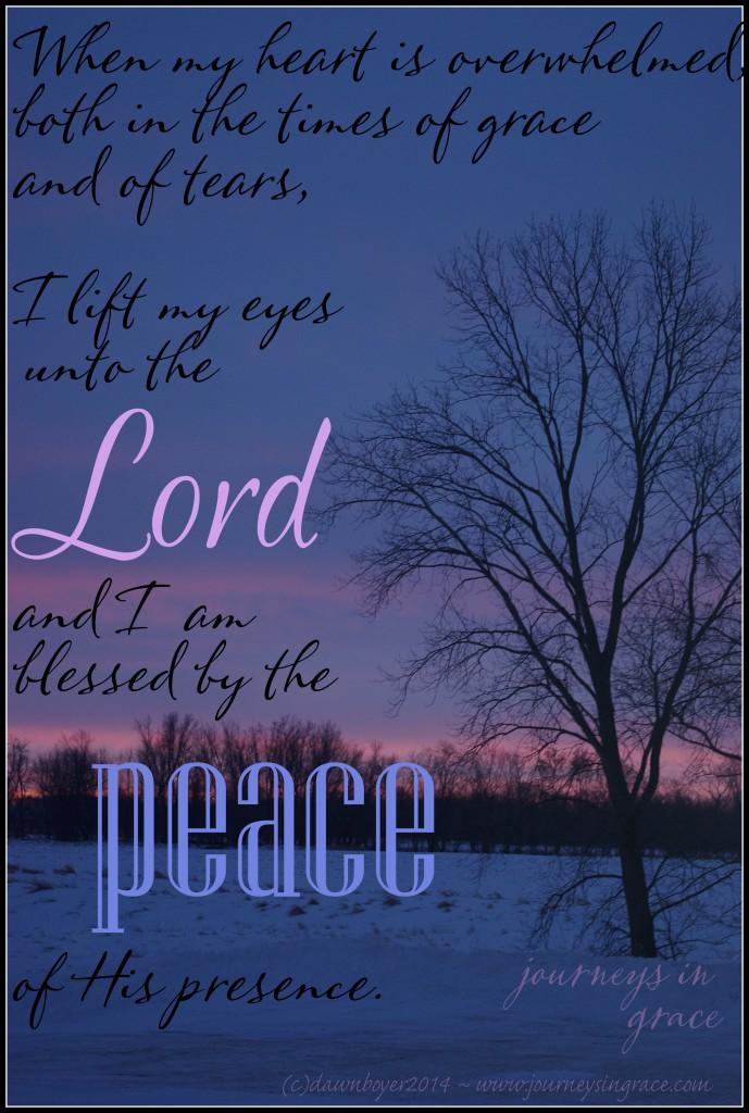I lift my eyes toward peace Psalm 121 a