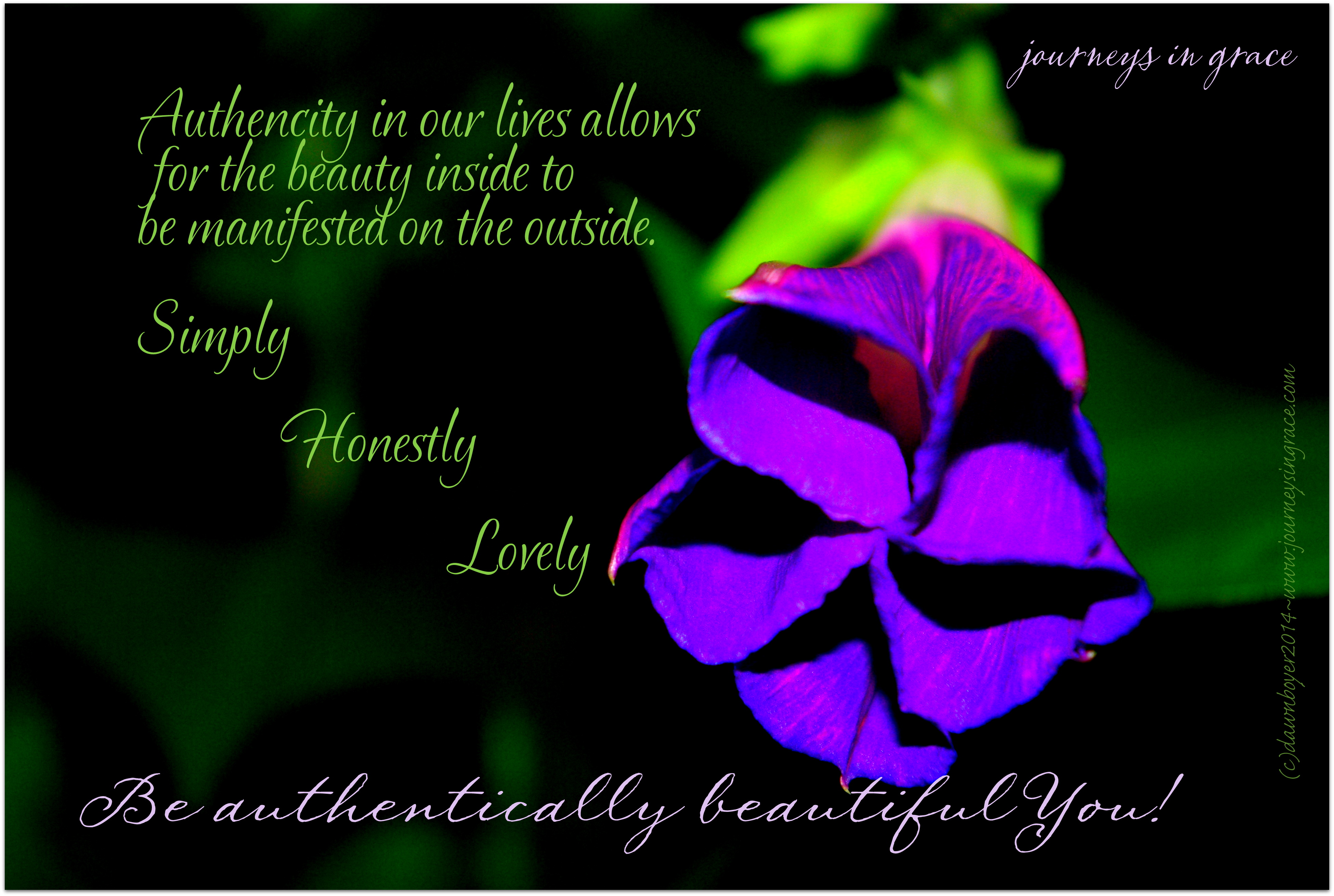 d6313d70b7 Be Authentically Beautiful You! - Journeys in Grace