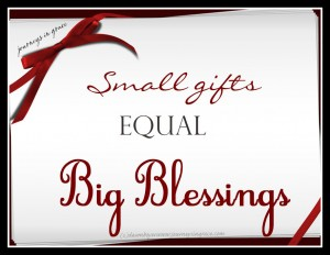 Small Gifts Equal Big Blessings