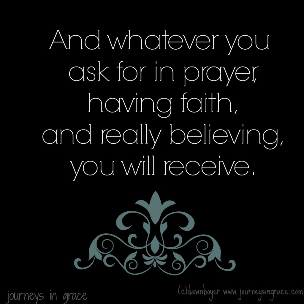 Prayer and Faith