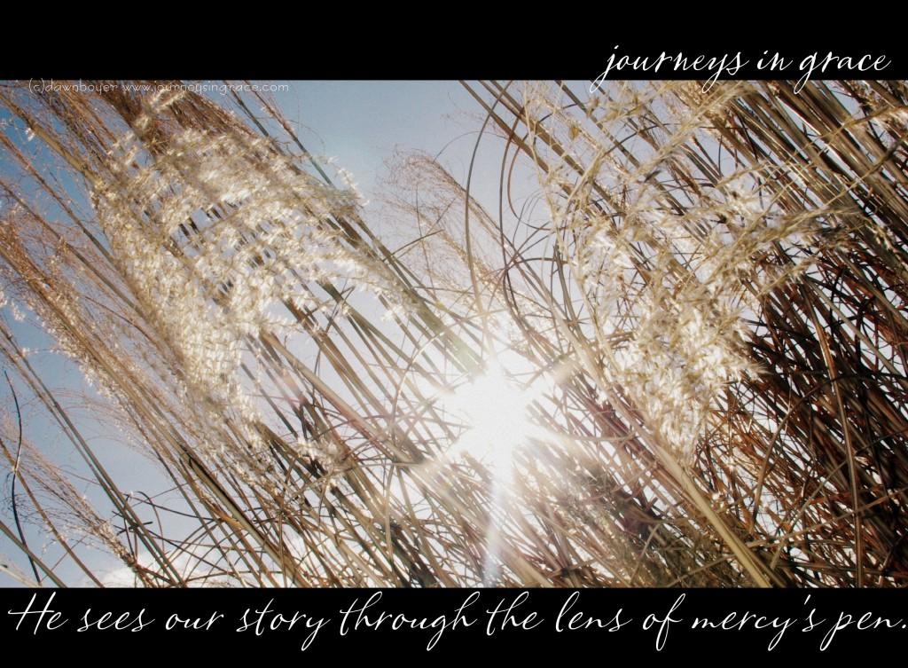 he sees the story through mercys lens