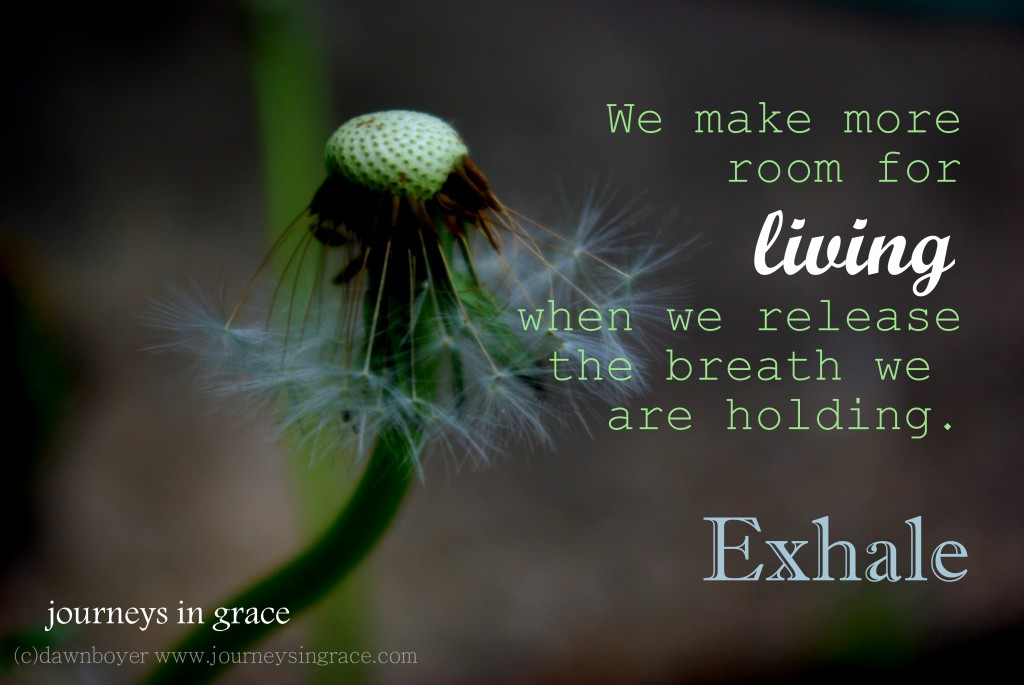 release your breath to live and exhale