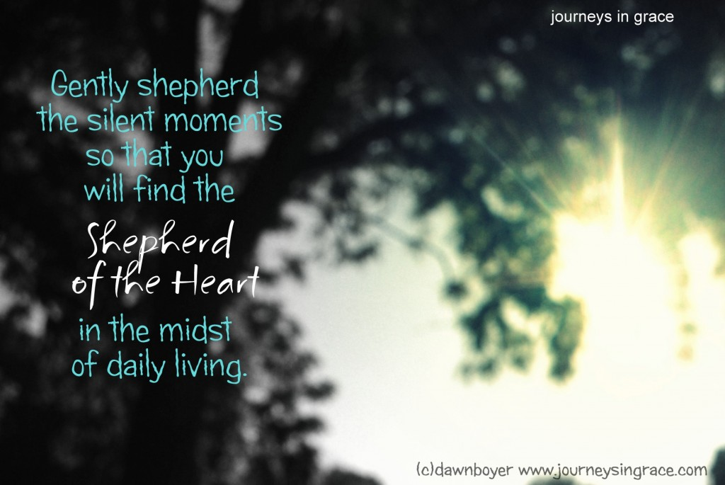 Shepherding the silence often leads us to the shepherd of our heart.