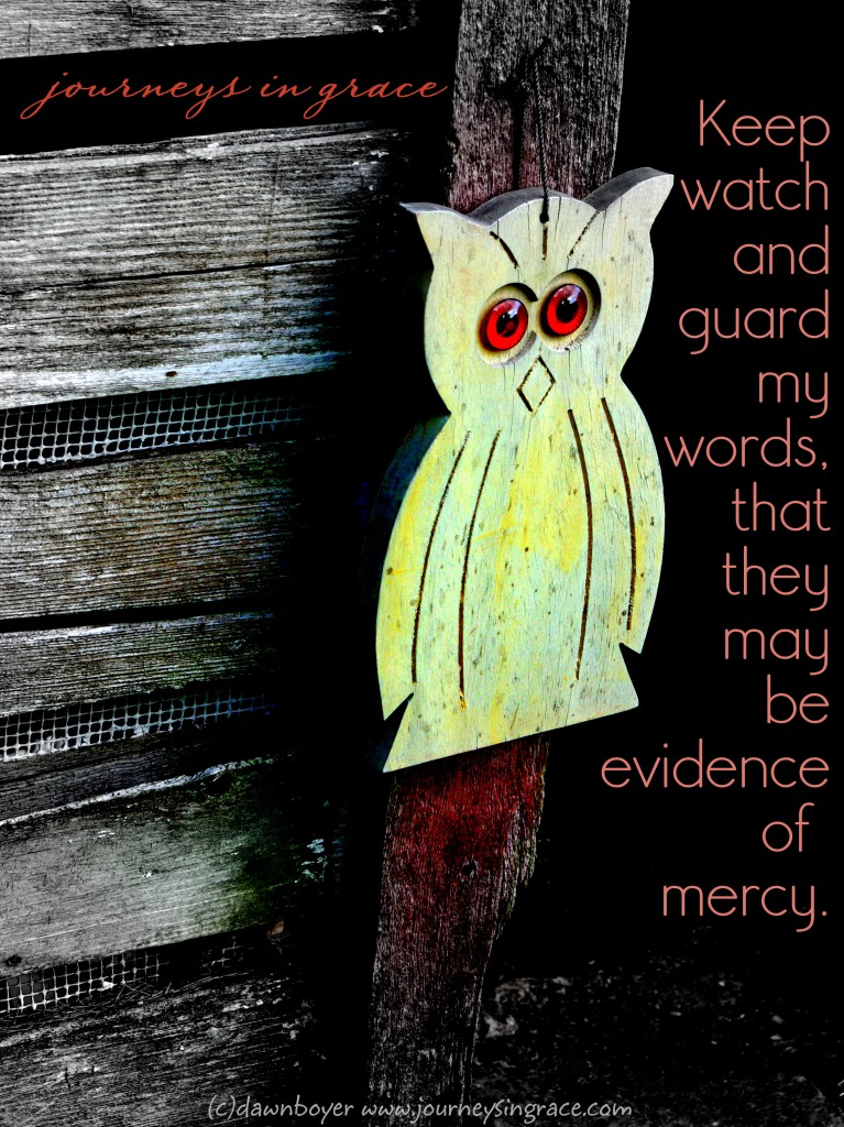 keep watch and guard my words