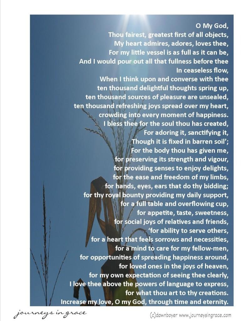 Praise and thanksgiving poem