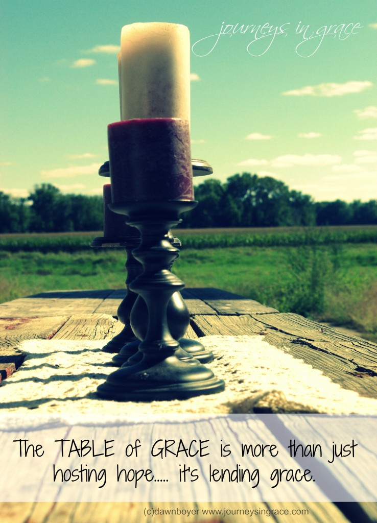 the table of grace lends grace