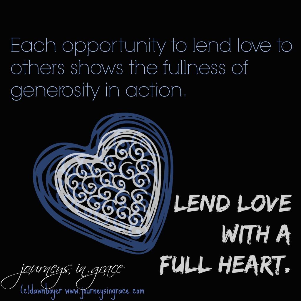 lend love