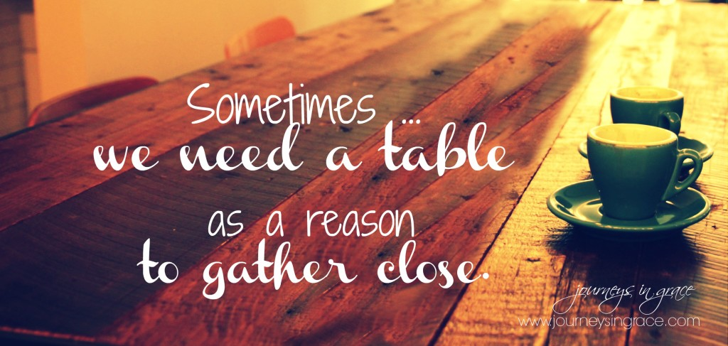 When saying yes involves a table…