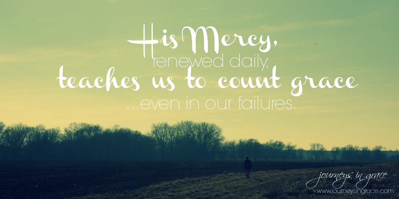 When failure teaches us to count grace… #GraceMoments Link Up