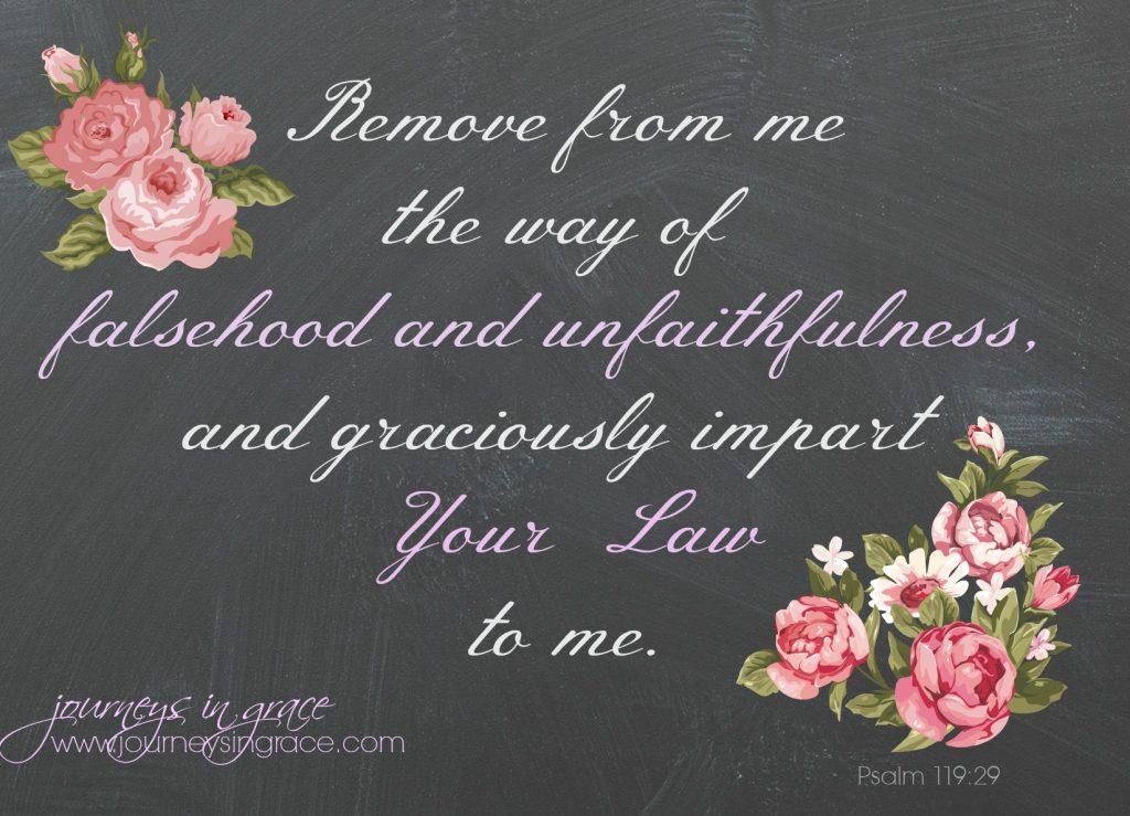 Psalm 119 29