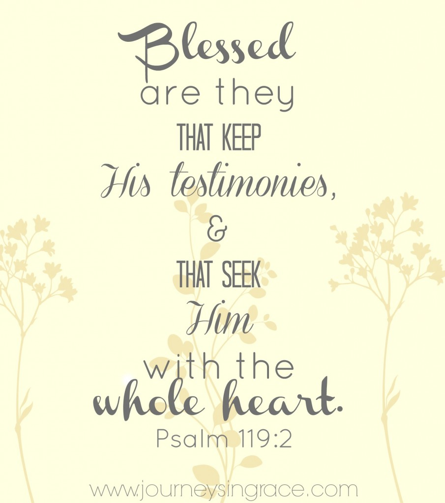 Blessed are they who seek Him