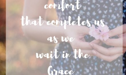 The Comfort of His Grace…#GraceMoments Link UP