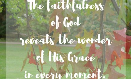 When His faithfulness shows grace…#GraceMoments Link Up