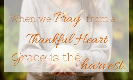 The Prayer of a Thankful Heart…#GraceMoments Link UP