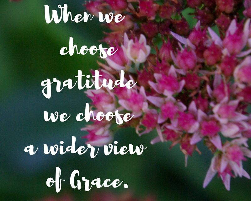 When choosing gratitude is choosing grace…#GraceMoments Link Up