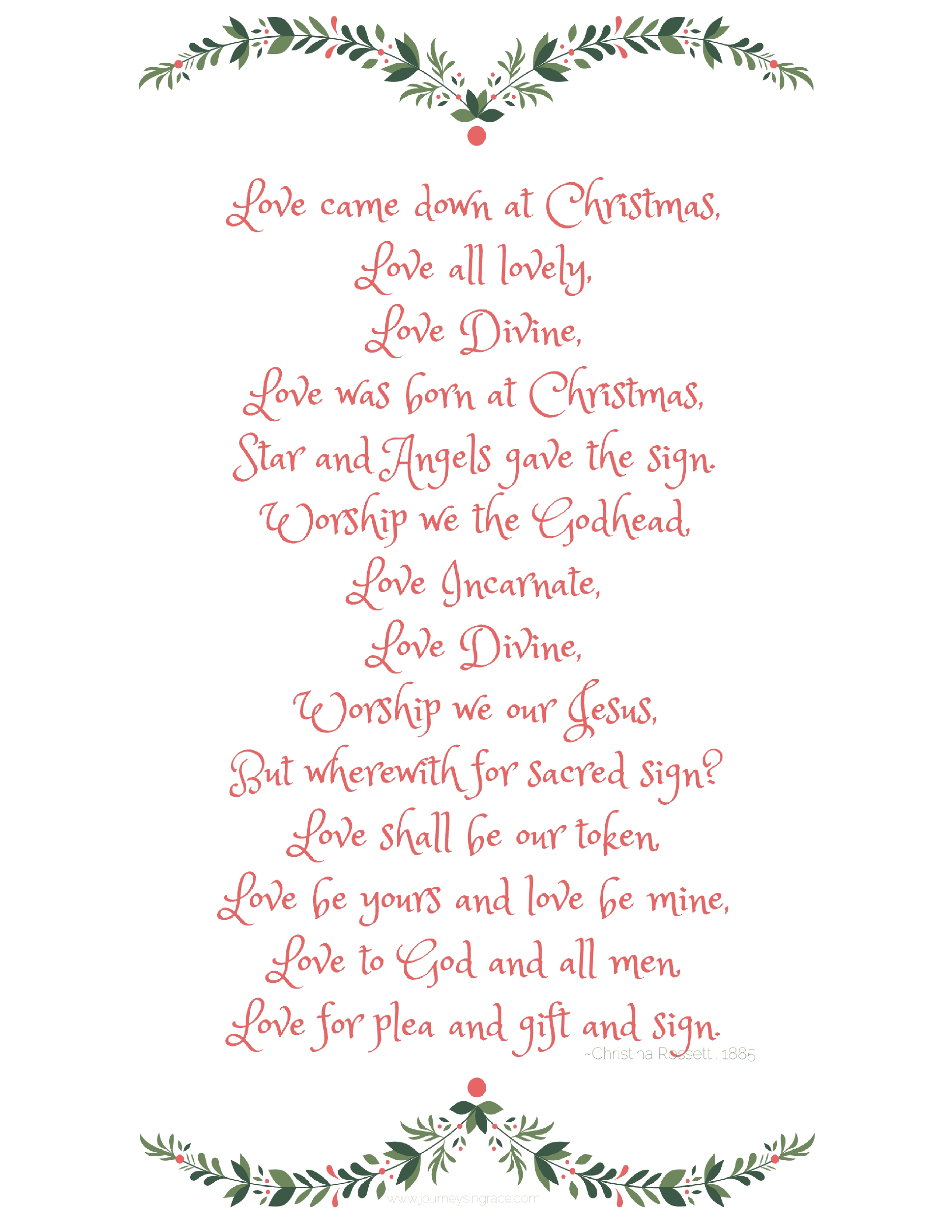 love came down at christmas it is the builder of hope the binding of peace and the broker for joy love came for your heart for you to be found and to