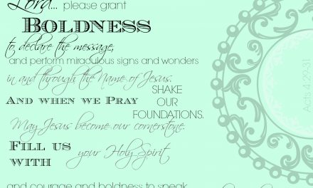 When our prayers are bold… Soul Stops