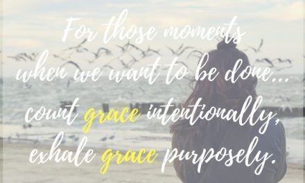 When counting grace keeps us going…#GraceMoments Link Up
