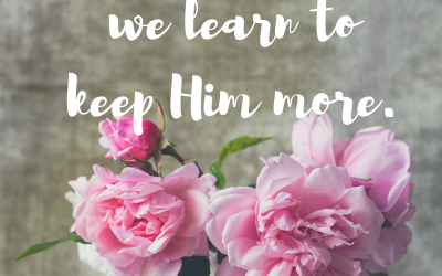 When we learn to keep God…#soulstops