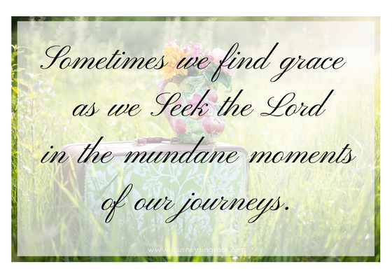 When seeking God results in finding grace…#GraceMoments Link Up