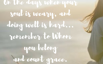 When doing well is the grace we count…#GraceMoments.