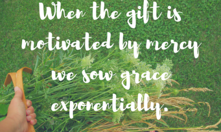When we are motivated by mercy…#GraceMoments Link Up