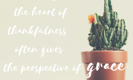 When thankfulness gives us the perspective of grace…#GraceMoments Link Up