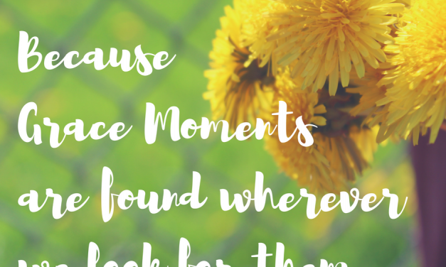 Because we can be confident of His grace…#GraceMoments Link Up