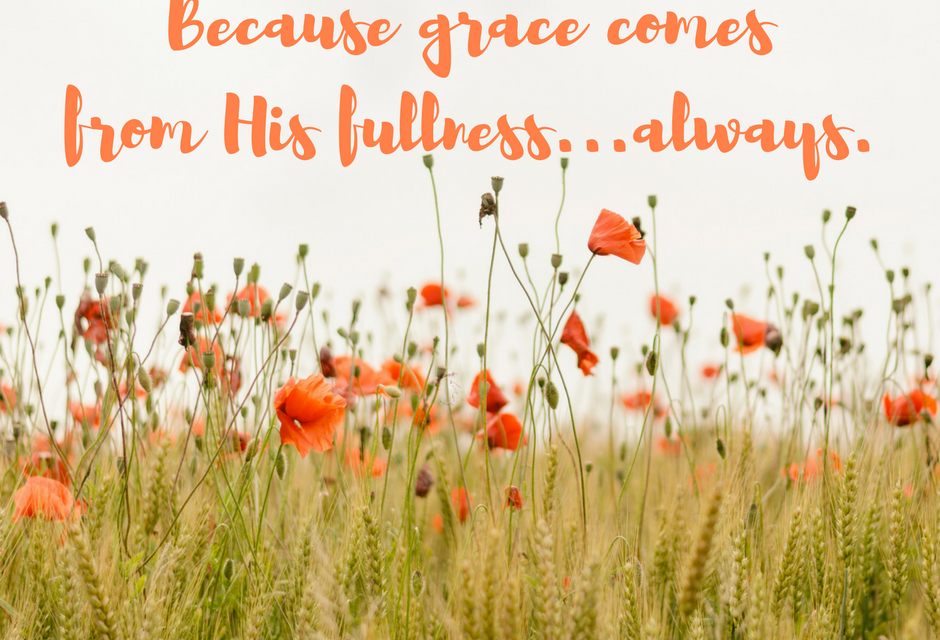 When we need to be filled by grace…#GraceMoments Link Up