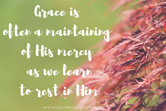 When we maintain grace through rest… #GraceMoments Link Up